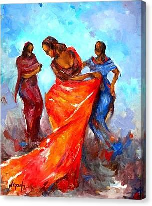 Dance 3 Canvas Print by Negoud Dahab