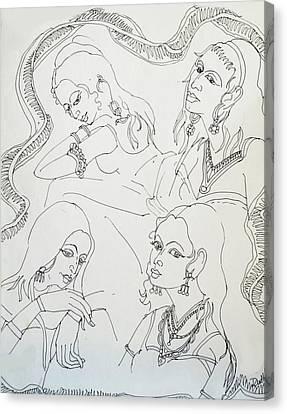 Dance-37 Canvas Print by Bhanu Dudhat