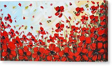 Dance Among Red Poppies Canvas Print by Christine Krainock
