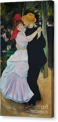 Canvas Print featuring the painting Dance At Bougival Renoir by Eric  Schiabor