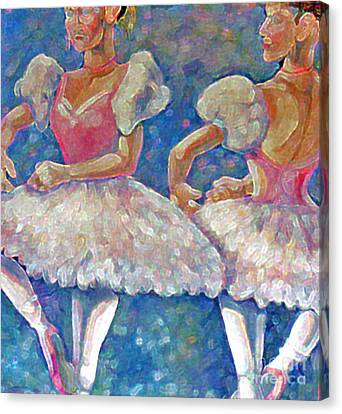 Canvas Print featuring the painting Dance Ballerina by Rita Brown