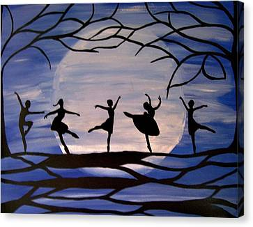 Dance By The Light Of The Moon Canvas Print by Rachel Olynuk