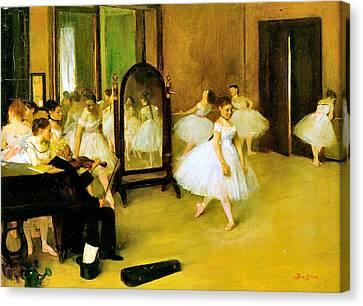 Dance Class 2 Canvas Print by Edgar Degas