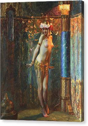 Dance De Salome Canvas Print by Gaston Bussiere