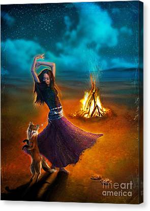 Dance Dervish Fox Canvas Print by Aimee Stewart
