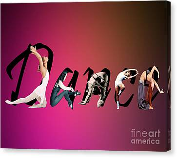 Canvas Print featuring the digital art Dance Expressions by Megan Dirsa-DuBois