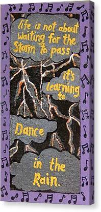 Dance In Rain Canvas Print by Yvonne  Kroupa