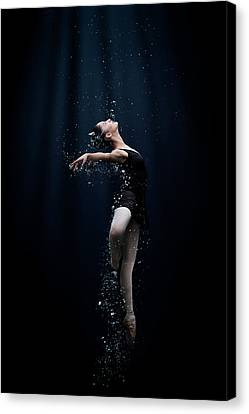 Dance In The Water Canvas Print by Semra Halipoglu