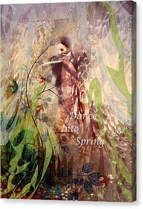 Dance Into Spring Canvas Print by Georgiana Romanovna