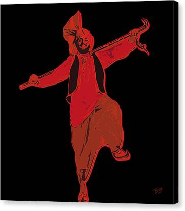 Canvas Print featuring the painting Dance Like A Punjabi Man by Nop Briex