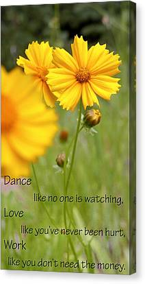 Dance Love Work 200509 Canvas Print by Jerry Sodorff