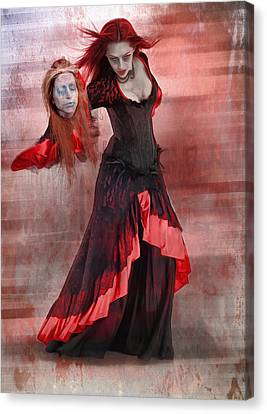 Dance Macabre Canvas Print by Hazel Billingsley