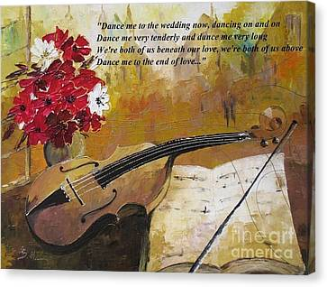 Dance Me To The End Of Love_dedicated To Leonard Cohen Canvas Print by AmaS Art