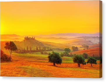 Dance Of Dawn Canvas Print