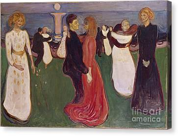 Dance Of Life Canvas Print by Edvard Munch