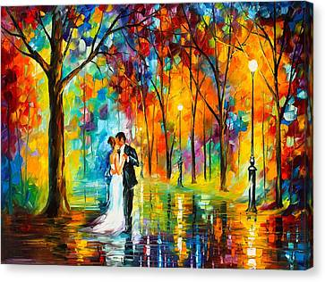 Dance Of Love Canvas Print by Leonid Afremov