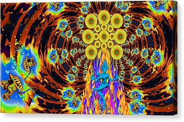 Solemn Relics Canvas Print - Dance Of Shiva by Jason Saunders