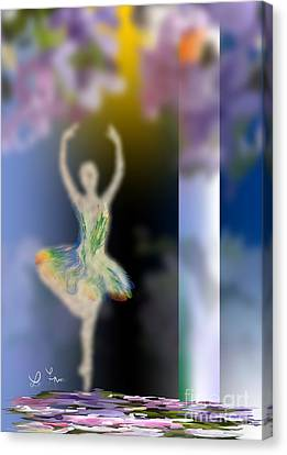 Dance Of Spring Canvas Print by Leo Symon