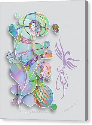 Dance Of The Fairies Canvas Print by Gayle Odsather