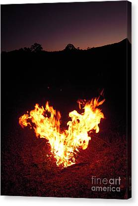 Canvas Print featuring the photograph Fire In Your Heart by Ankya Klay