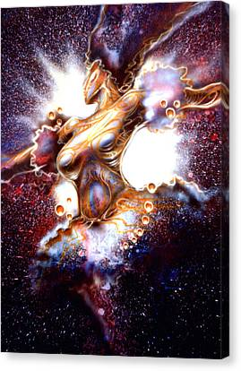 Dance Of The Nebula Canvas Print by Mike Underwood