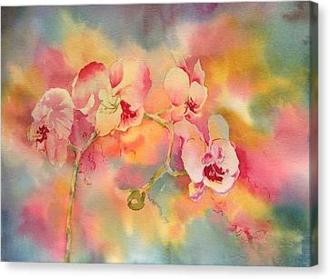 Dance Of The Orchids Canvas Print by Tara Moorman