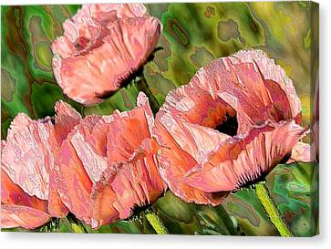Dance Of The Poppies Canvas Print