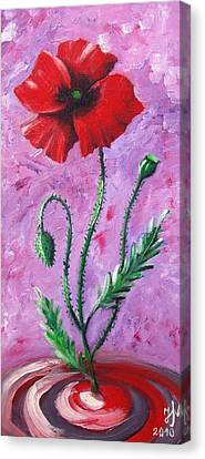 Dance Of The Poppy Canvas Print by Nina Mitkova