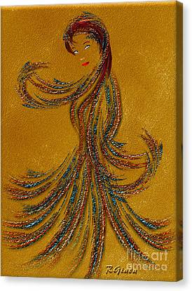 Dance Of The Seven Veils - Salome - Fantasy Art By Giada Rossi Canvas Print by Giada Rossi