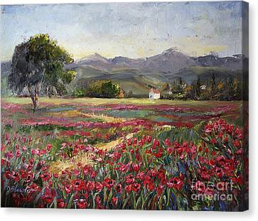Dance Of The Tulips Canvas Print