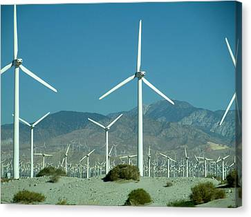 Dance Of The Wind Turbines Canvas Print