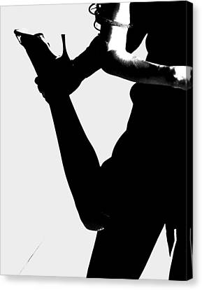 Dance Silhouette Canvas Print by Doug Walker
