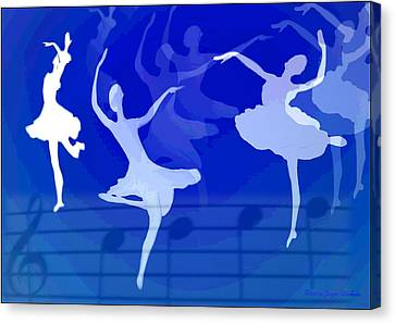 Dance The Blues Away Canvas Print by Joyce Dickens