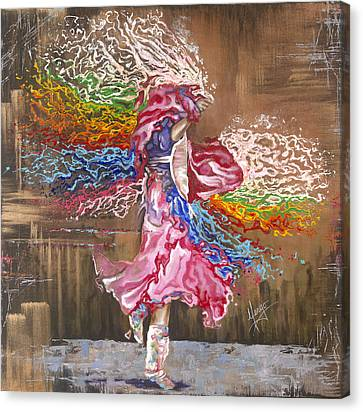 Dancer Canvas Print - Dance Through The Color Of Life by Karina Llergo