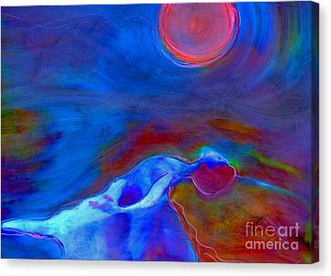 Dance Under A Full Moon Canvas Print by FeatherStone Studio Julie A Miller
