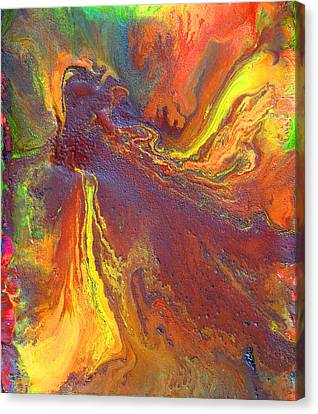 Dance With Colors Canvas Print by Julia Apostolova