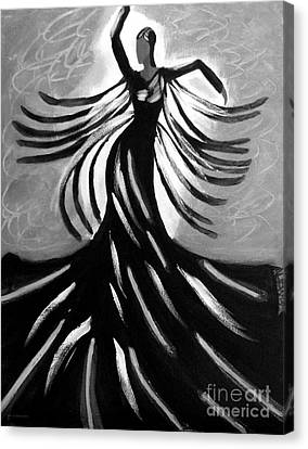 Canvas Print featuring the painting Dancer 2 by Anita Lewis