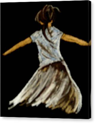 Canvas Print featuring the drawing Dancer 2 by Joseph Hawkins