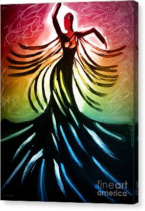 Dancer 3 Canvas Print by Anita Lewis