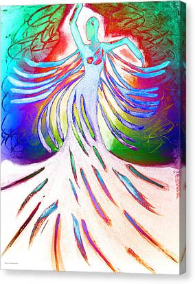 Canvas Print featuring the painting Dancer 4 by Anita Lewis