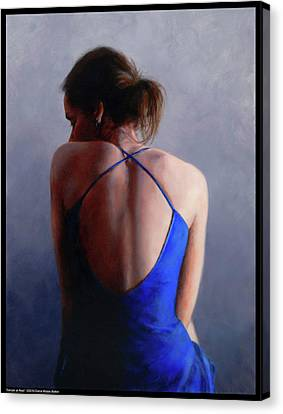 Dancer At Rest Canvas Print by Diana Moses Botkin