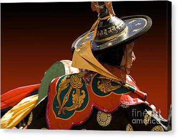 Canvas Print featuring the digital art Dancer From Bhutan by Angelika Drake