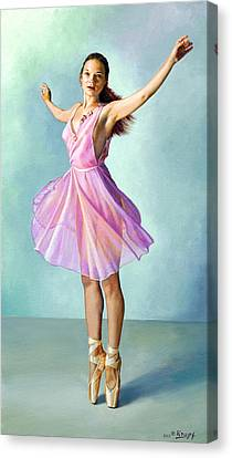 Dancer In Pink Canvas Print by Paul Krapf