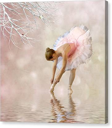Dancer In Water Canvas Print by Sharon Lisa Clarke