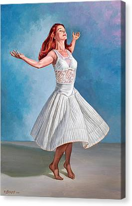 Dancer In White Canvas Print by Paul Krapf