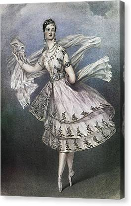 Dancer Maria Taglioni In The Ballet Le Canvas Print by Everett