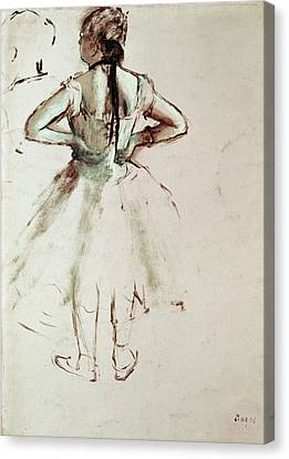 Dancer Viewed From The Back Canvas Print by Edgar Degas