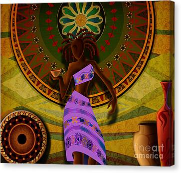 Dancer With Cup Canvas Print by Bedros Awak