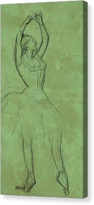 Dancer With Raised Arms Canvas Print by Edgar Degas