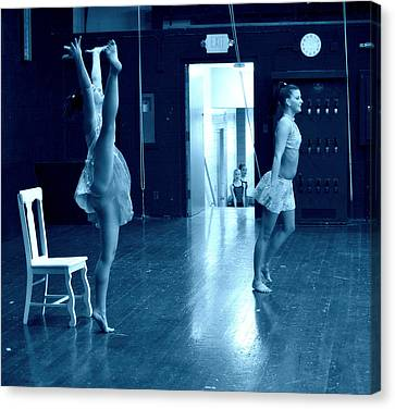 Dancers And Little Watchers Canvas Print